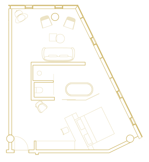 Akrafjall Corner Suite layout
