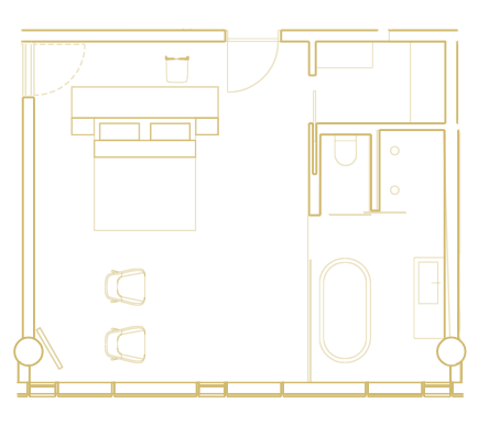 Skálafell Suite layout