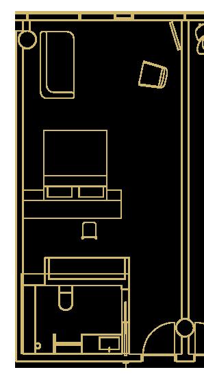 Snæfellsjökull Suite layout